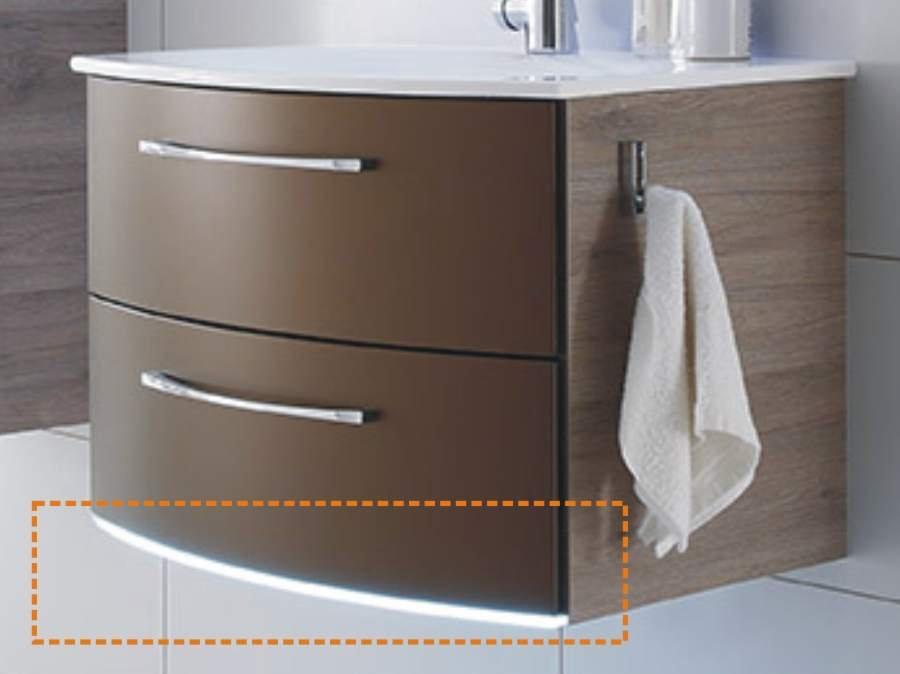 Pelipal Solitaire 7025 Waschtischunterschrank D 73 cm | 2 Auszüge mit LED