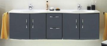 Pelipal Solitaire 7025 Waschtischunterschrank E | 4 Türen | ohne LED 173 cm