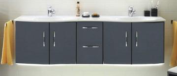 Pelipal Solitaire 7025 Waschtischunterschrank F | 4 Türen | mit LED 173 cm