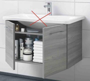 Pelipal Solitaire 9005 Waschtischunterschrank A | 2 Türen | 60 cm [Geberit Smyle Square]