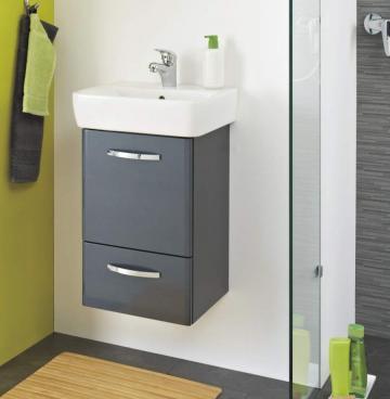 Pelipal Velo Badmöbel Set B 50 cm | Waschtisch mit Unterschrank