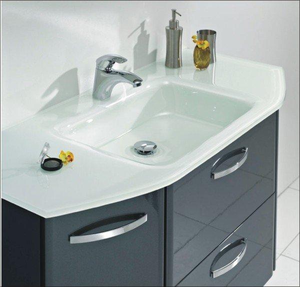Waschtisch Glas velo badmöbel waschtisch glas b 110 cm arcom center