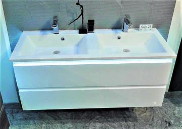 Puris Ace Badmöbel Doppel Waschtisch Set mit Unterschrank | 120 cm