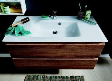 Puris Ace Badmöbel Waschtisch Set mit Unterschrank | 100 cm
