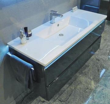 Puris Ace Badmöbel Waschtisch Set mit Unterschrank | 120 cm