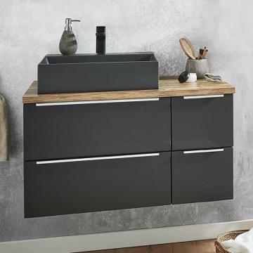Puris Aspekt Badmöbel 100 cm | Waschtisch mit Unterschrank Set E Links