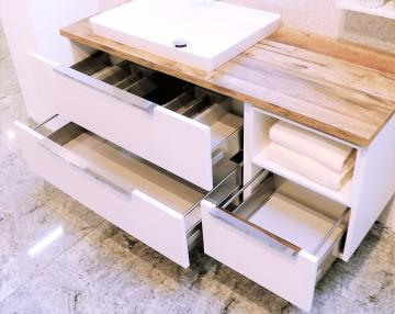 Puris Aspekt Badmöbel 120 cm | Waschtisch mit Unterschrank Set A Links