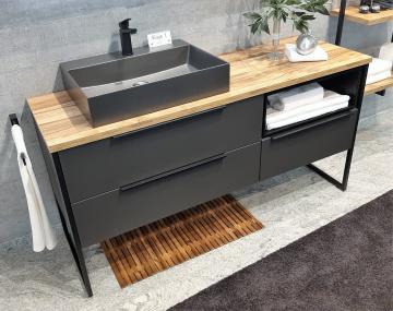 Puris Aspekt Badmöbel 120 cm | Waschtisch mit Unterschrank Set C Links