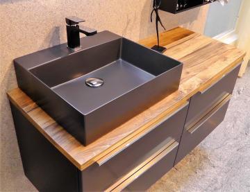 Puris Aspekt Badmöbel 120 cm | Waschtisch mit Unterschrank Set E Links