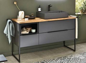Puris Aspekt Badmöbel 120 cm | Waschtisch mit Unterschrank Set G Rechts