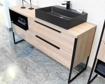 Puris Aspekt Badmöbel 120 cm | Waschtisch mit Unterschrank Set H Rechts