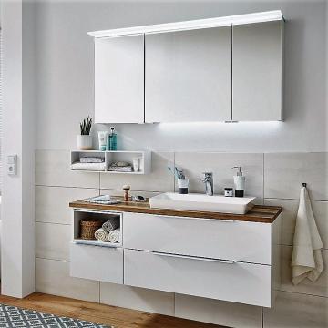 Puris Aspekt Badmöbel 130 cm | Set R Waschtisch Rechts
