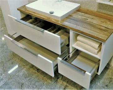 Puris Aspekt Badmöbel 130 cm | Waschtisch mit Unterschrank Set B Links