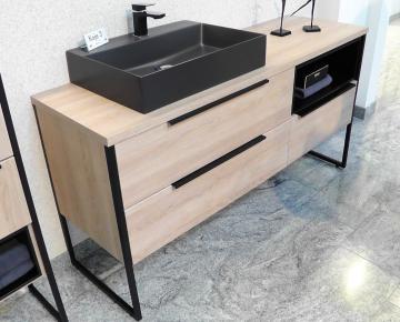 Puris Aspekt Badmöbel 130 cm | Waschtisch mit Unterschrank Set C Links