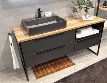 Puris Aspekt Badmöbel 130 cm | Waschtisch mit Unterschrank Set D Links
