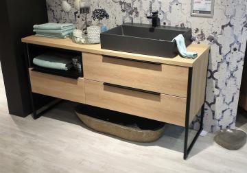 Puris Aspekt Badmöbel 130 cm | Waschtisch mit Unterschrank Set H Rechts