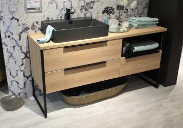 Puris Aspekt Badmöbel 150 cm | Waschtisch mit Unterschrank Set A Links