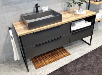 Puris Aspekt Badmöbel 150 cm | Waschtisch mit Unterschrank Set B Links