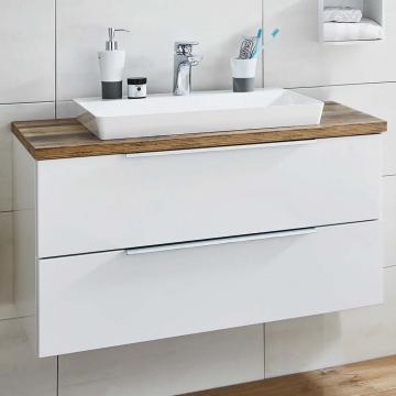 Puris Aspekt Badmöbel 90 cm | Waschtisch mit Unterschrank Set A