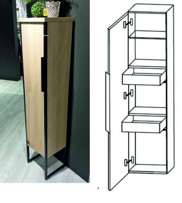 Puris Aspekt Mittelschrank + Innenschubkasten Breite 30 cm | 1 Tür