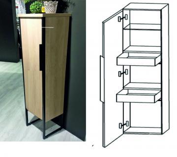 Puris Aspekt Mittelschrank + Innenschubkasten Breite 40 cm | 1 Tür
