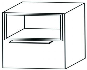 Puris Aspekt Unterschrank Breite 60 cm | 1 Auszug + 1 Regal oben