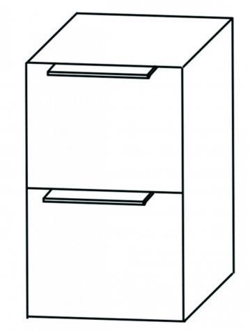 Puris Aspekt Unterschrank Breite 40 cm | 2 Auszüge