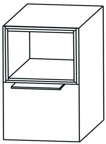 Puris Aspekt Unterschrank Breite 30 cm | 1 Auszug + 1 Regal oben