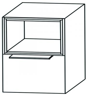 Puris Aspekt Unterschrank Breite 40 cm | 1 Auszug + 1 Regal oben