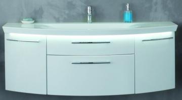 Puris Classic Line Waschtischunterschrank 140 cm | 2 Auszüge | Für Mineralguss
