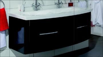 Puris Classic Line Doppelwaschtischunterschrank 140 cm | 2 Auszüge | Für Mineralguss