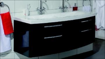 Puris Classic Line Doppelwaschtischunterschrank 140 cm | 4 Auszüge | Für Mineralguss