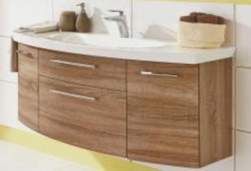 Puris Classic Line Waschtischunterschrank 120 cm | 2 Auszüge | Für Mineralguss