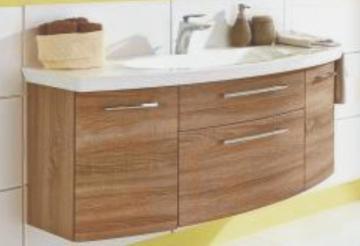 Puris Classic Line Waschtischunterschrank 120 cm | 2 Auszüge | Für Glas