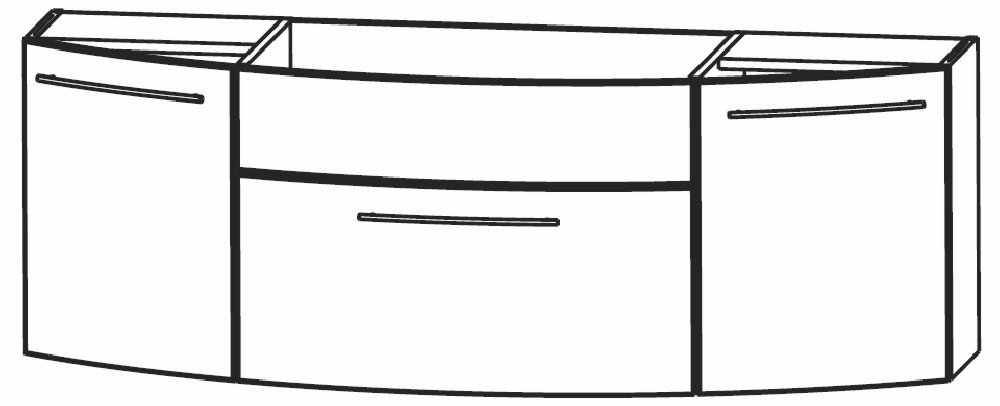 puris classic line waschtischunterschrank 140 cm. Black Bedroom Furniture Sets. Home Design Ideas