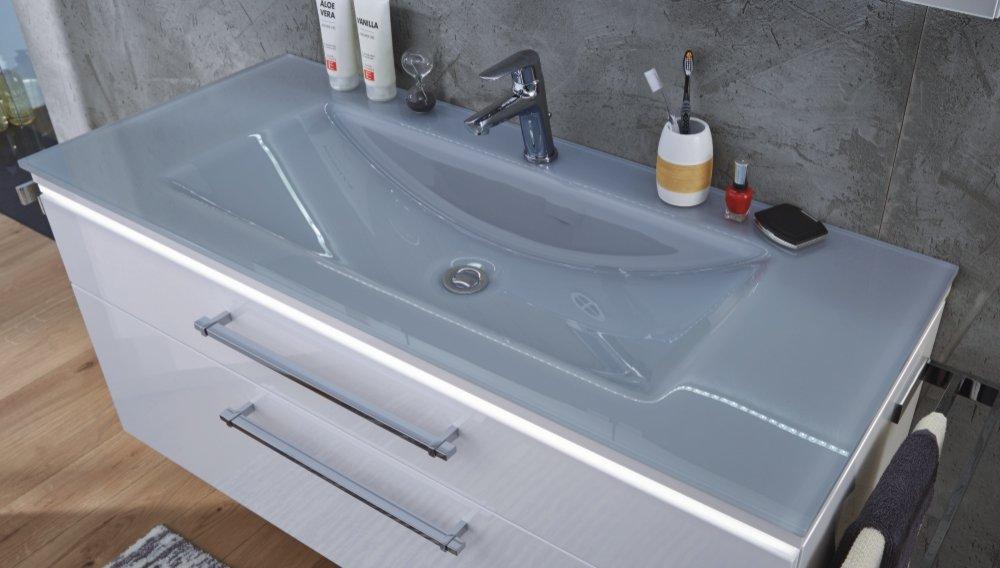 Waschtisch Glas puris cool line glaswaschtisch 120 cm badmöbel arcom center