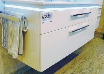 Puris Cool Line 120 cm | Doppel WT-Unterschrank | 2 Auszüge | Keramik