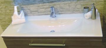 Puris Cool Line 90 cm   Waschtisch Glas Optiwhite