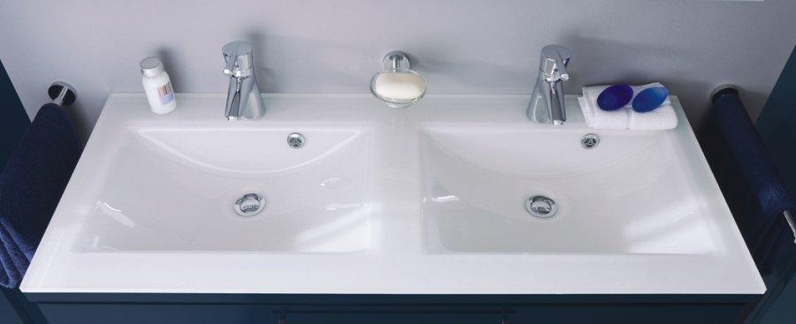 Doppelwaschbecken glas  PURIS COOL LINE | Doppelwaschtisch Glas Optiwhite - Arcom Center
