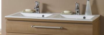 Puris Cool Line Doppelwaschtisch 120 cm | Stone-Plus