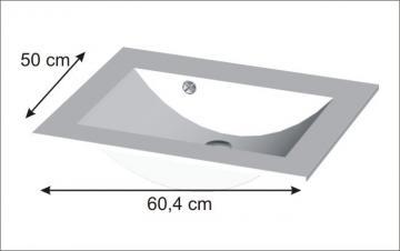 Puris Cool Line 60 cm | Waschtisch Glas | Optiwhite