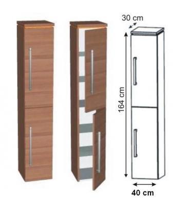 Puris Cool Line Hochschrank 2 Türen 40 cm | Maßvariabel