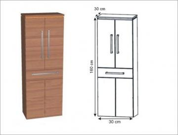 Puris Cool Line Hochschrank + Wäschekippe 60 cm