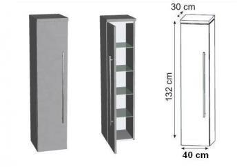 Puris Cool Line Mittelschrank | 40 cm + Innenschubkasten