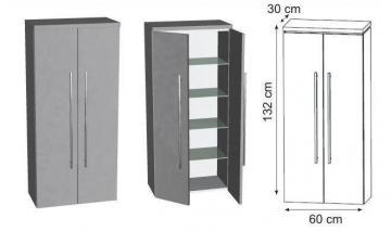 Puris Cool Line Mittelschrank 60 cm + Innenschubkasten