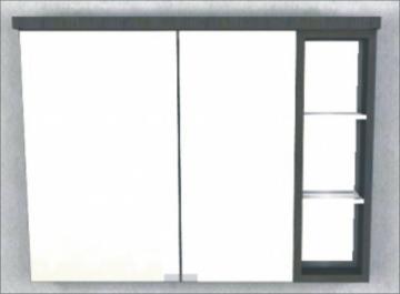 Puris Crescendo 2D-Spiegelschrank Rechts LED 90 cm