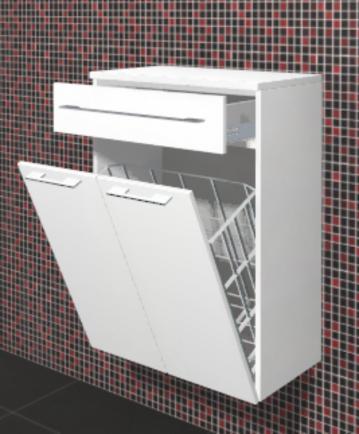 Puris Crescendo Badmöbel Highboard mit Wäschekippe 60 cm