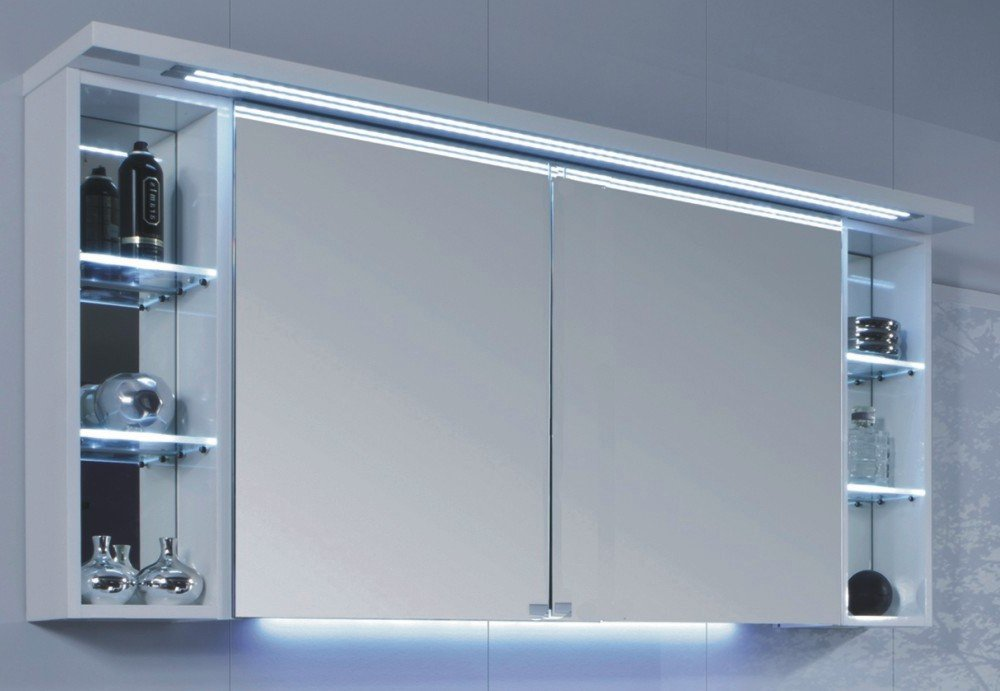 puris crescendo 2d spiegelschrank 140 cm badm bel arcom. Black Bedroom Furniture Sets. Home Design Ideas