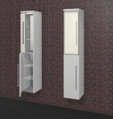 Puris Fine Line Badmöbel Hochschrank + Glastür 30 cm | Maßvariabel