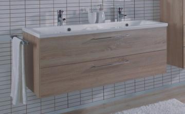 Puris Fresh Badmöbel Doppelwaschtischunterschrank für Mineralmarmor 120 cm